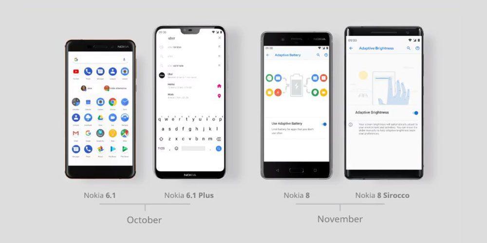 Mobily Nokia získávají Android 9 Pie