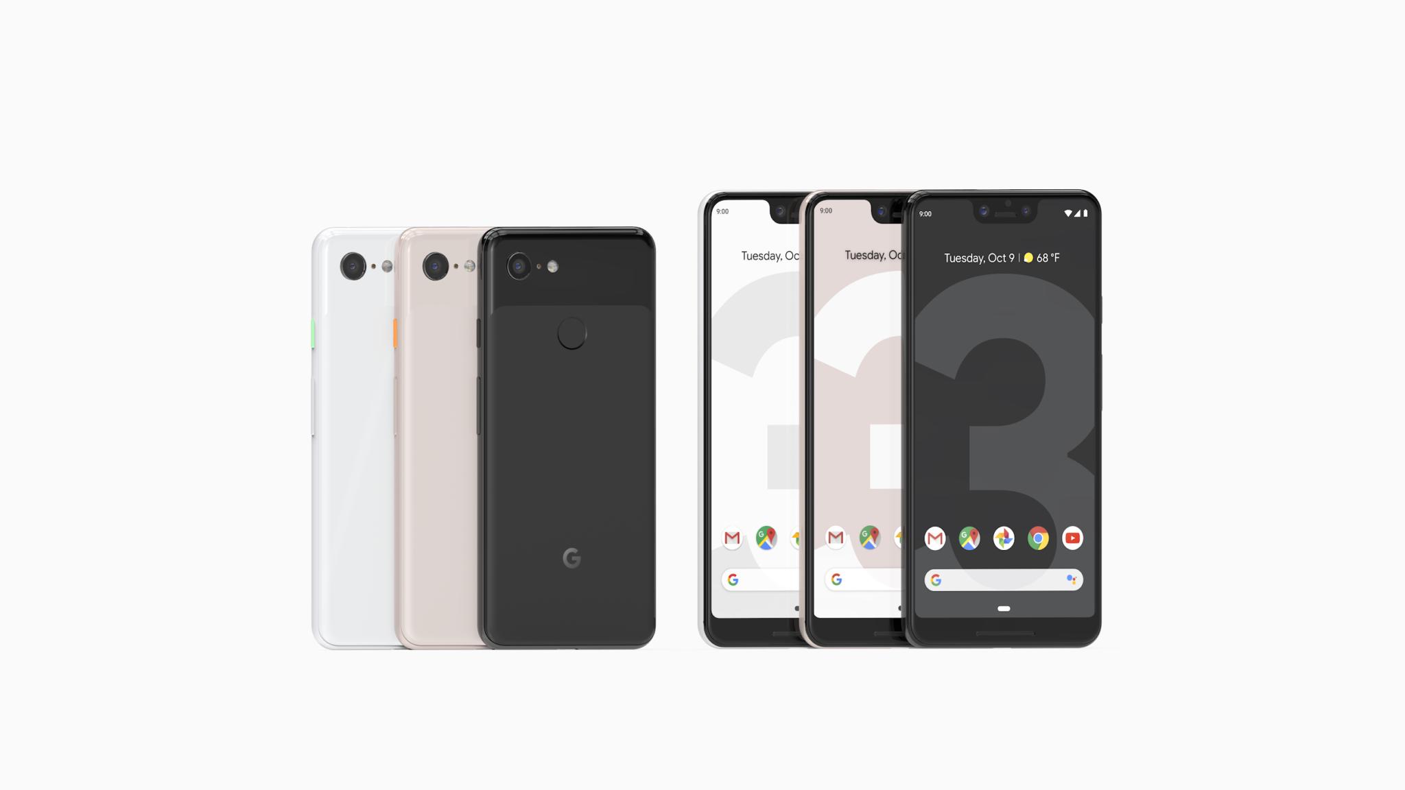 Pixel 3 a Pixel 3 XL oficiálně, překvapení se nekoná