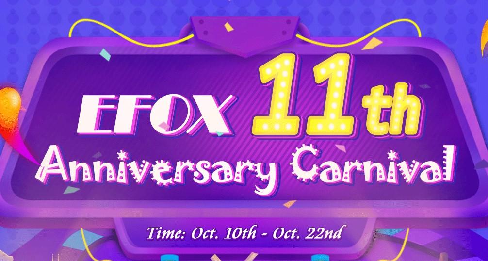 Efox: Oslavte s obchodem 11. výročí se super slevami! [Sponzorovaný článek]