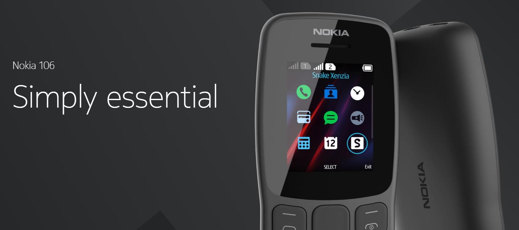 Nokia 106 Dual SIM – tlačítka nikdy neomrzí