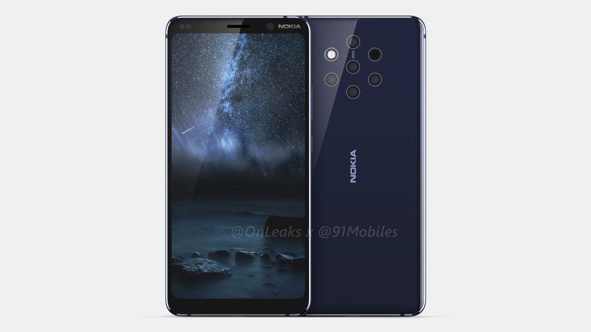 Nokia 9 s pěti fotoaparáty se nyní ukazuje na videu