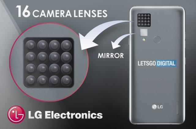 LG si patentovalo telefon s 16 kamerami