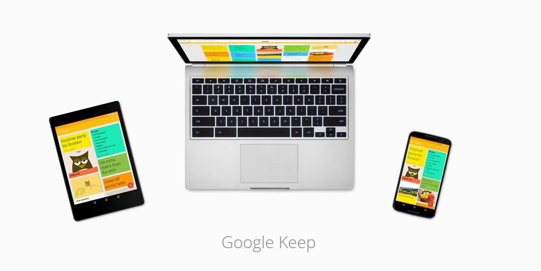 Google Keep vylepšuje psaní poznámek