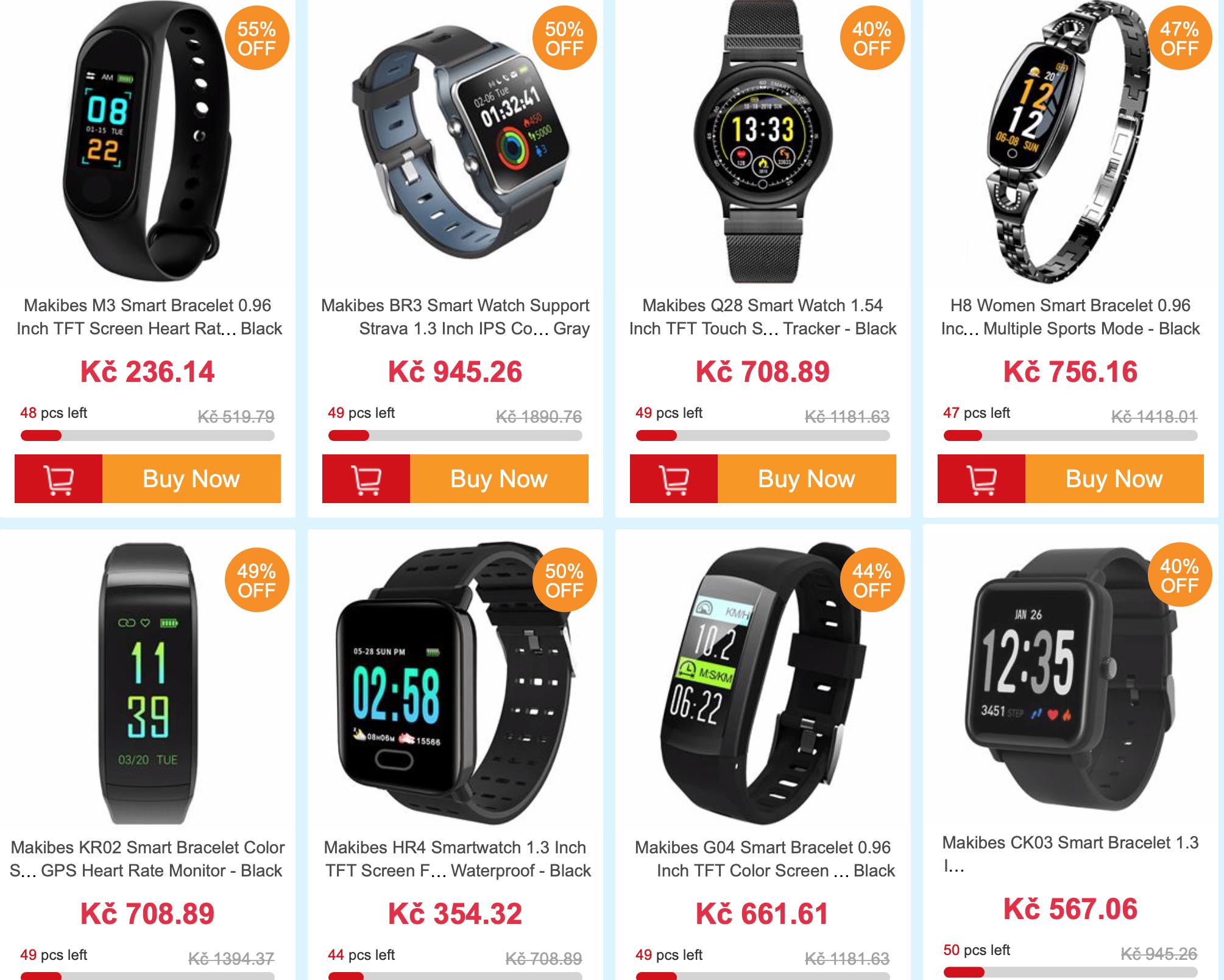 Nejnovější Makibes náramky a hodinky nyní za nižší cenu ... 132ed8d539