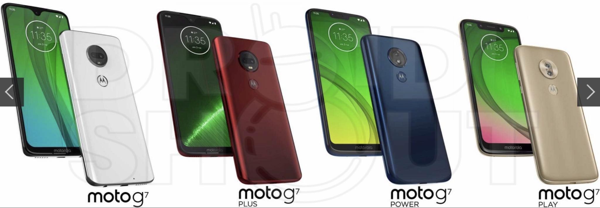 Řada Moto G7 nabídne hned několik různých výřezů v displeji