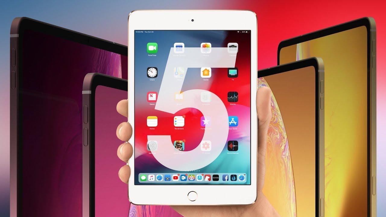 iPad mini 5 bude opět nuda, situaci nezlepší ani 10palcový iPad 7. generace