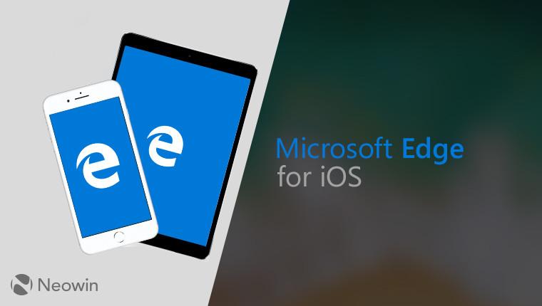 Microsoft Edge pro iOS přináší několik změn
