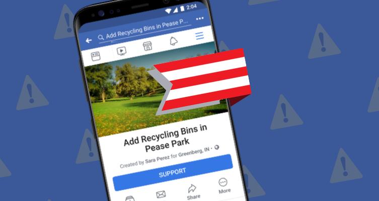 Community Actions od Facebooku se zaměří na politické události