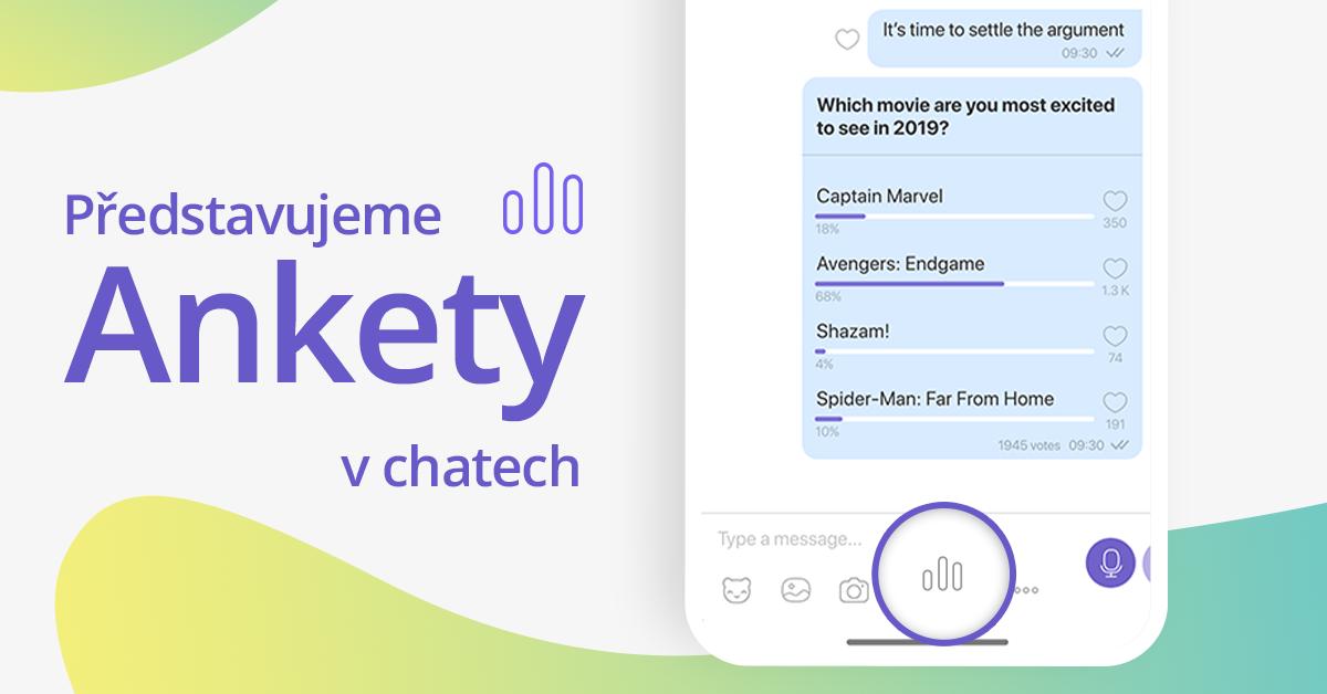 Viber přidává do aplikace ankety