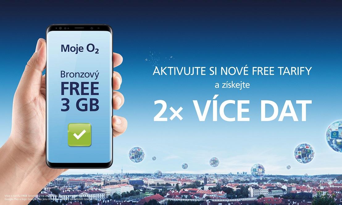 O2 představuje nové tarify FREE, k dispozici je i 60GB FUP