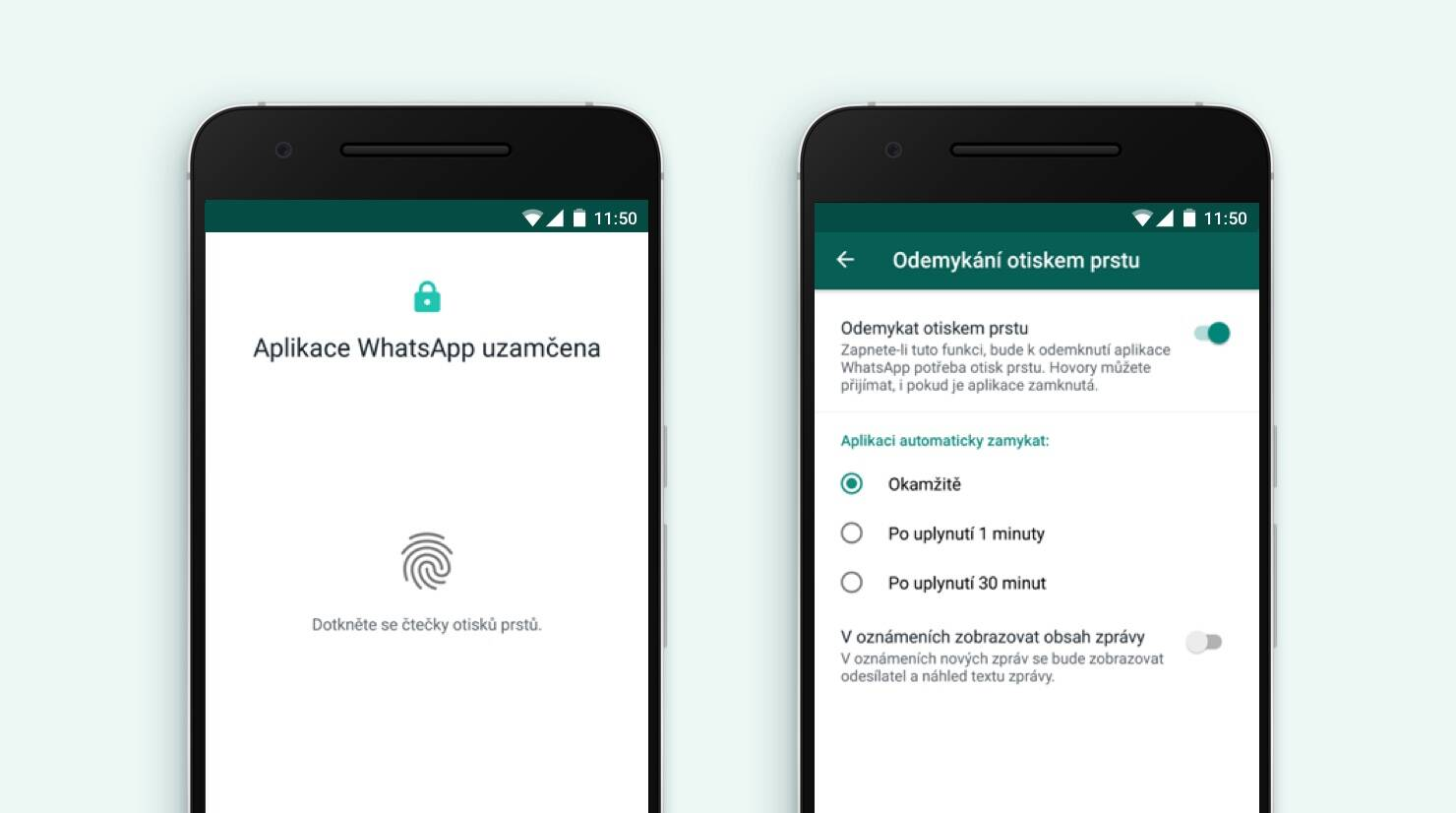 WhatsApp přináší biometrické ověření i pro Android [aktualizováno]