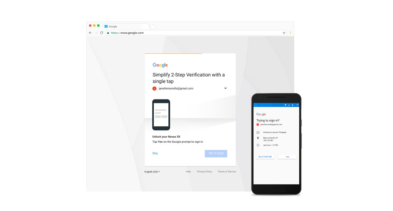Google si pohrává s dvoufázovým ověřením