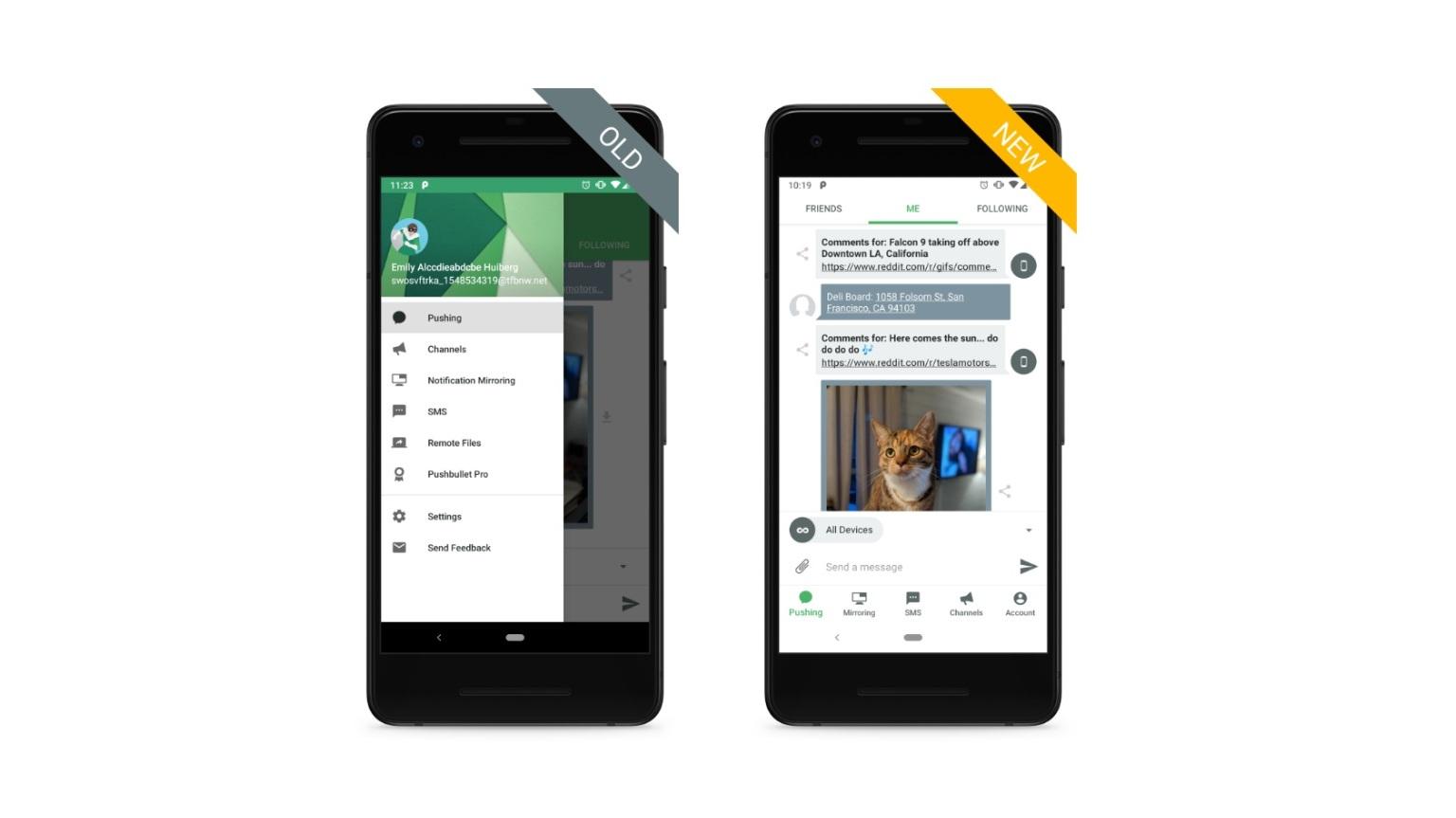 Služba Pushbullet představuje nový design své aplikace