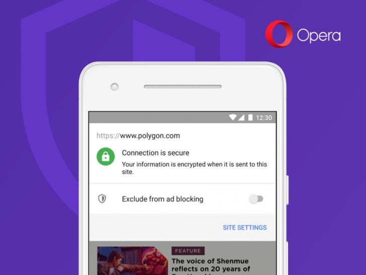 Opera pro Android přináší PiP, rychlé posouvání a tlačítko pro blokování reklam