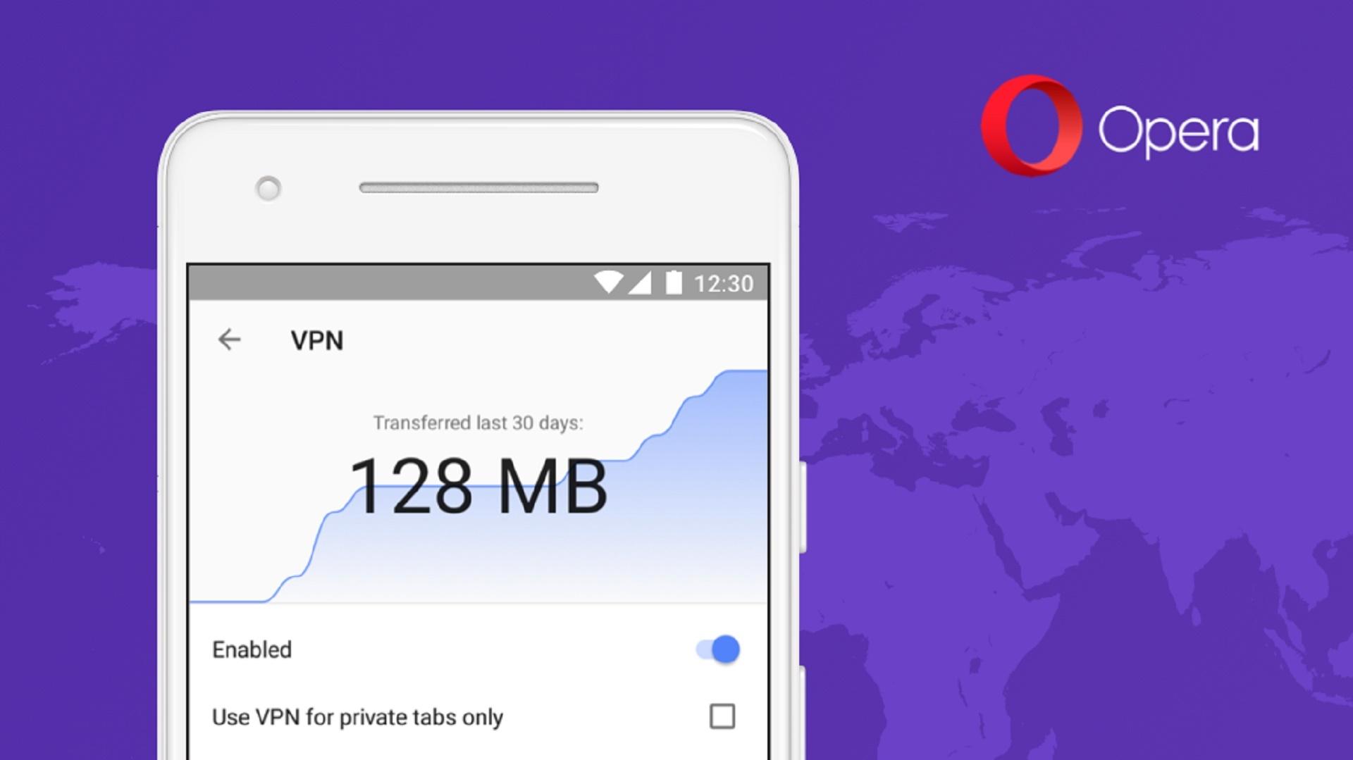 Opera VPN se vrací na Android, ale jen jako součást prohlížeče
