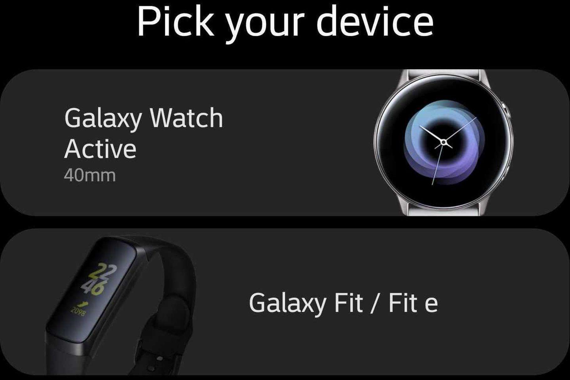 Samsung neuhlídal podobu hodinek, fitness náramku a sluchátek
