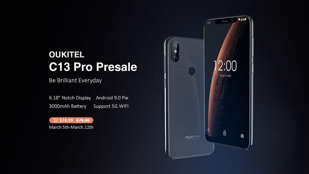 Oukitel C13 je prvním telefonem s Androidem 9 u této značky