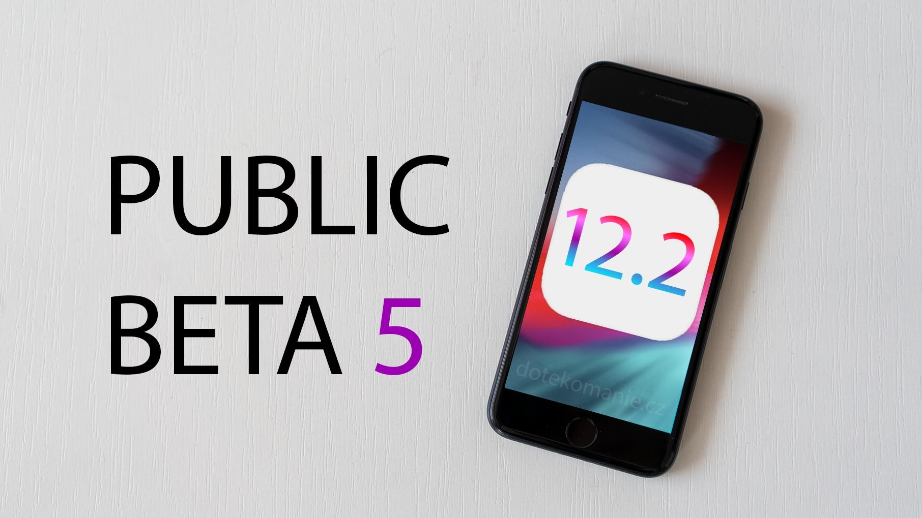 Apple publikoval iOS 12.2 beta 5 a další aktualizace