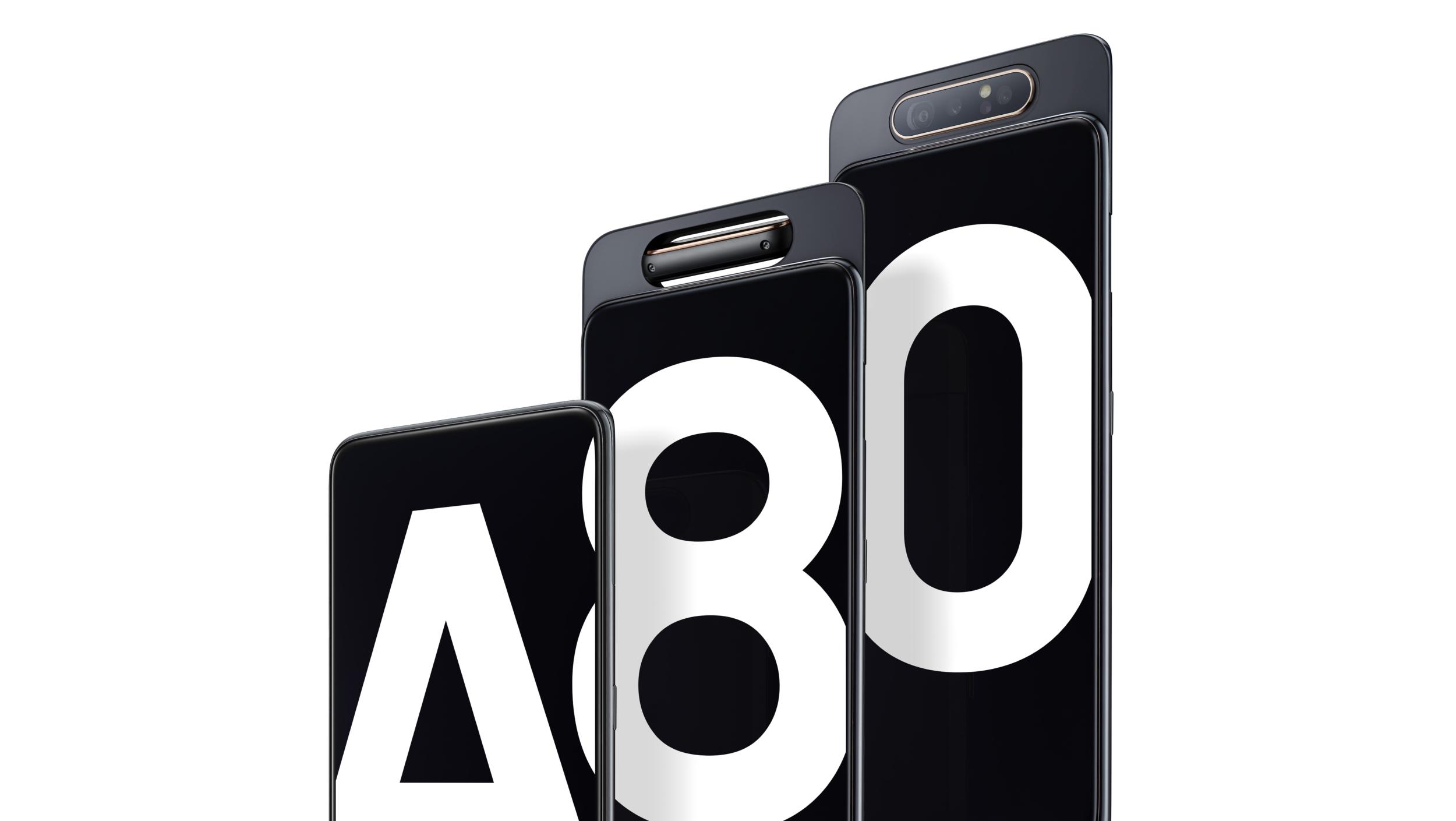 Samsung představil Galaxy A80, A70 a A20e