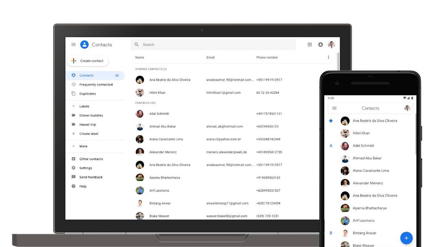 Google Kontakty začínají testovat App Slice