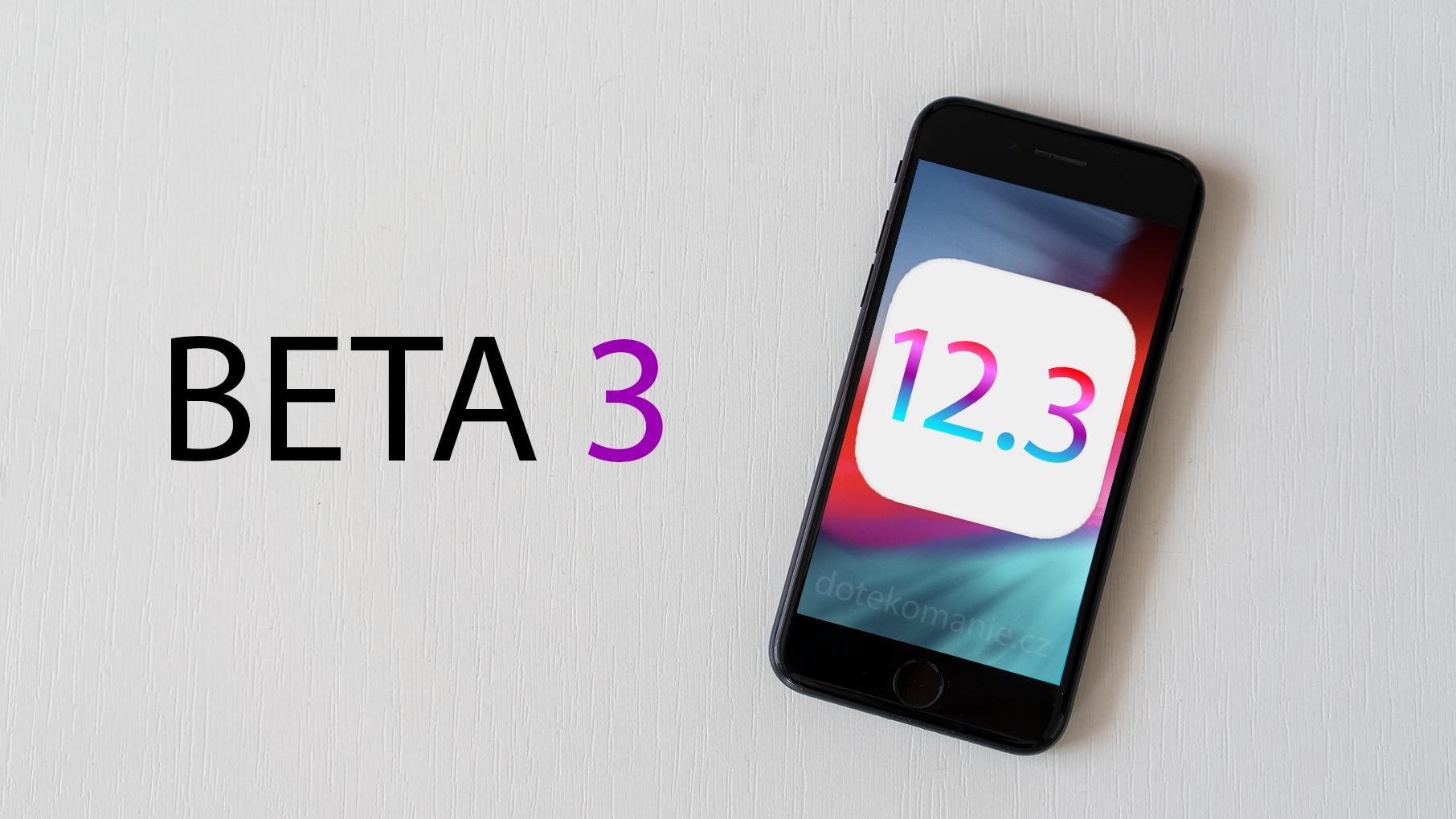 Apple vydal iOS 12.3 beta 3, přináší novou TV aplikaci