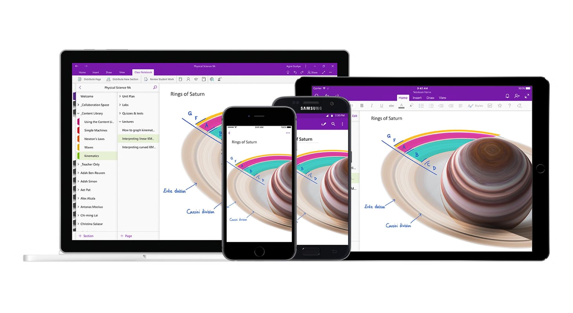 OneNote pro iOS nově importuje data z aplikace Outlook