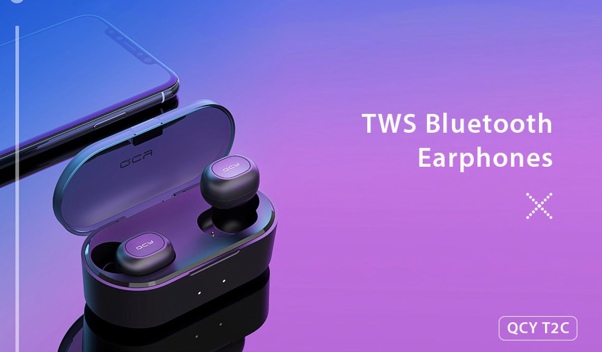 Bezdrátová sluchátka QCY T2C za skvělou cenu na e-shopu Cafago.com [Sponzorovaný článek)
