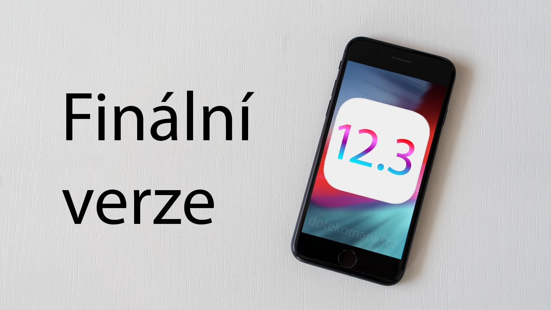 Finální iOS 12.3 je venku, novinek je dost