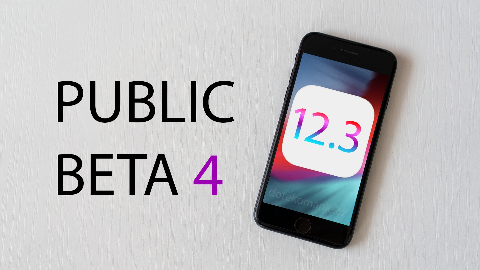 Apple do světa vypustil iOS 12.3 beta 4