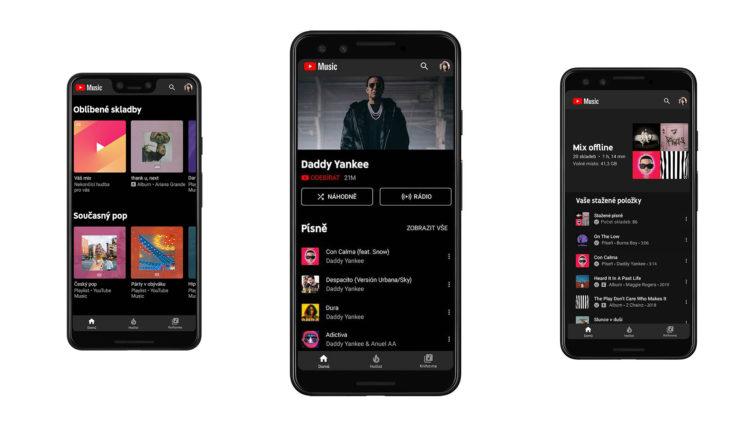 Aplikace Youtube Music