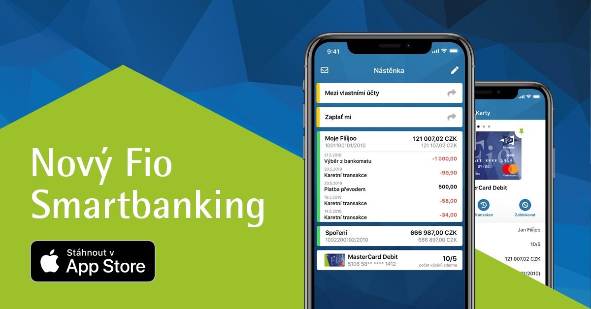 Fio banka vydala novou aplikaci bankovnictví pro iOS