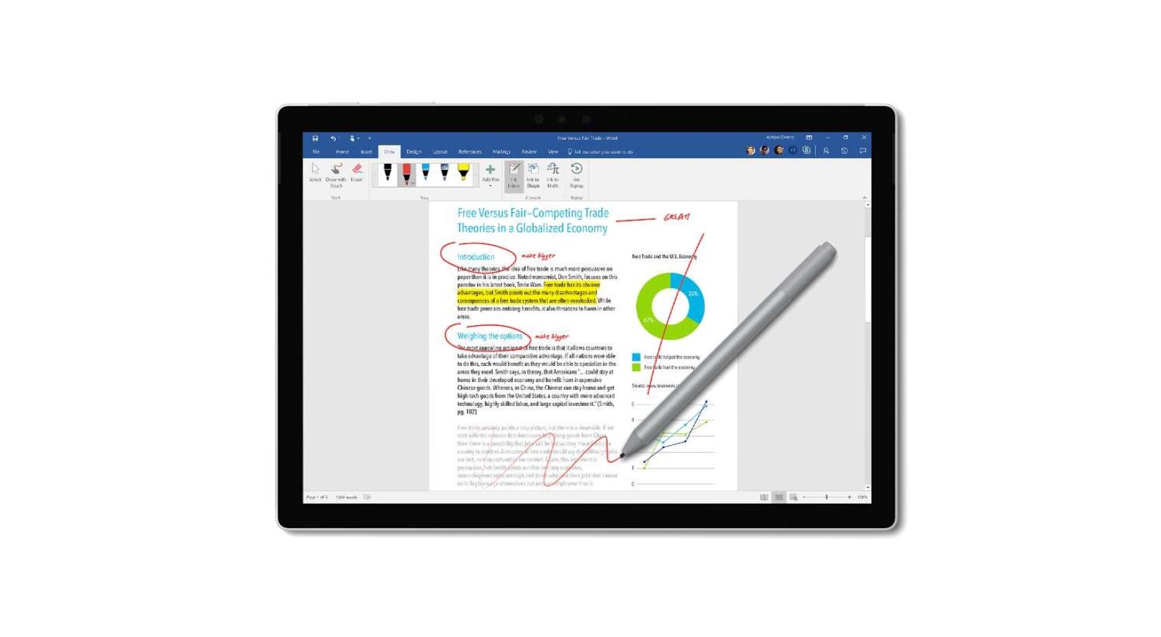 Microsoft si pohrává s ohebným stylusem