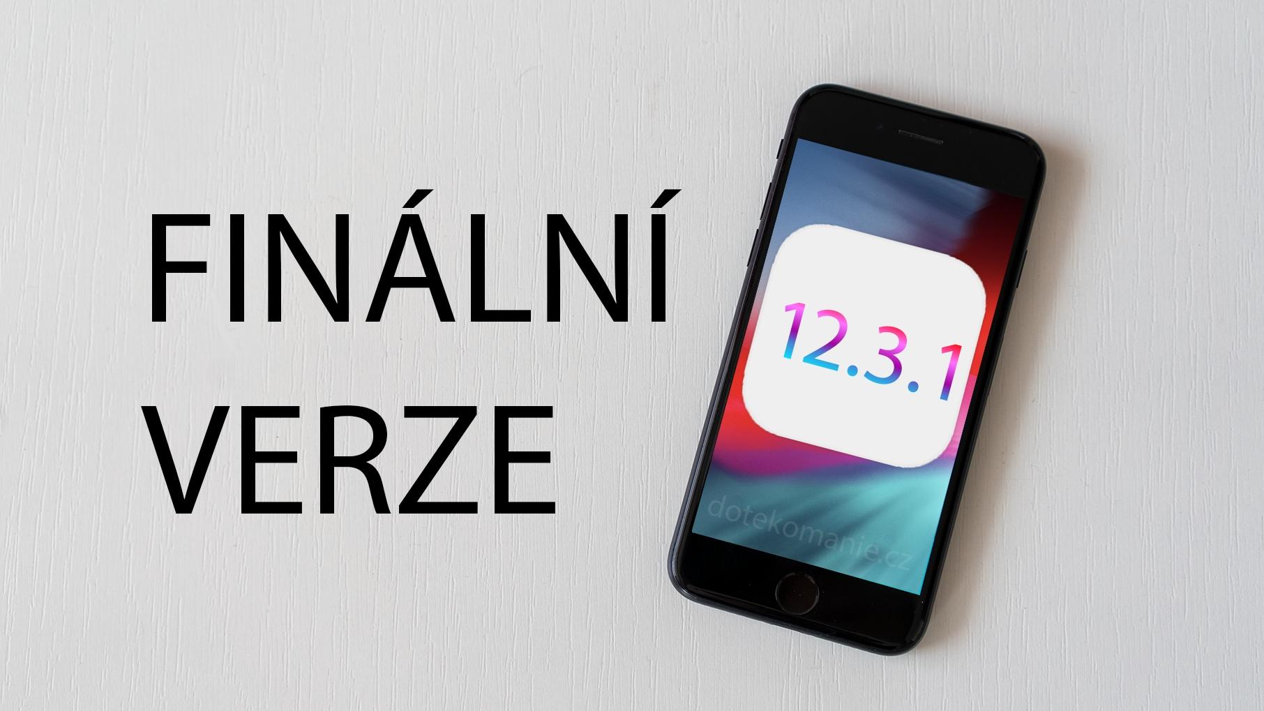 Apple vydal nové iOS 12.3.2, exkluzivně pro iPhone 8 Plus