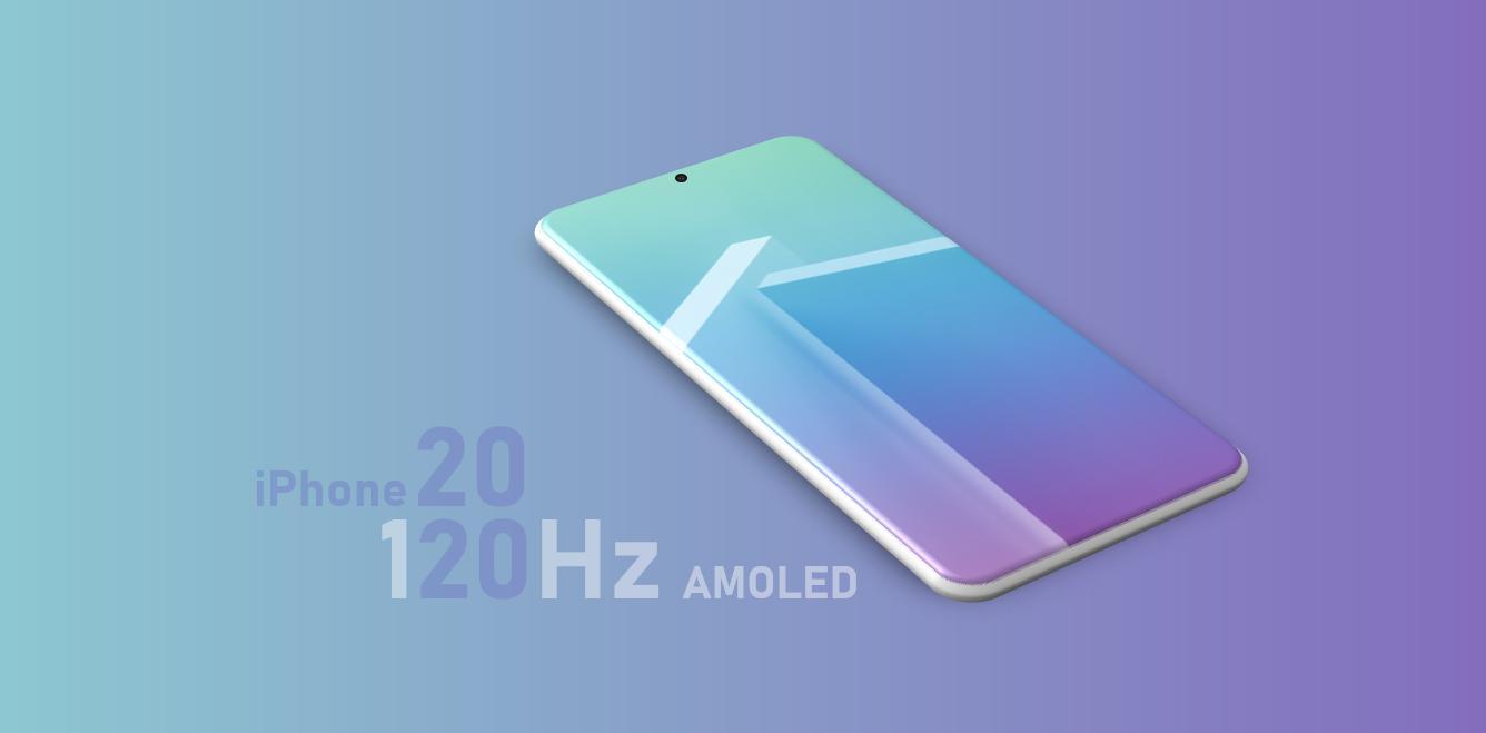 iPhone 2020 údajně nabídne 120Hz OLED displej