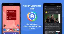Action Launcher nově nabízí tři režimy, včetně tmavého