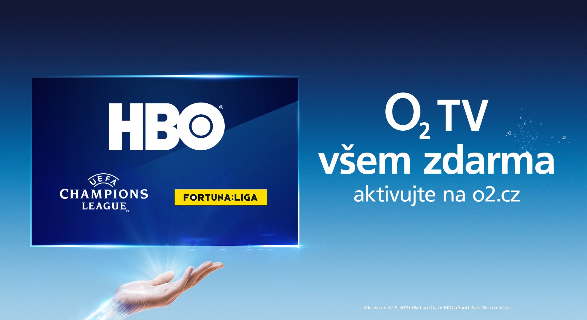 Letní akce od O2 – sledování O2 TV HBO a Sport Pack zdarma až na dva měsíce