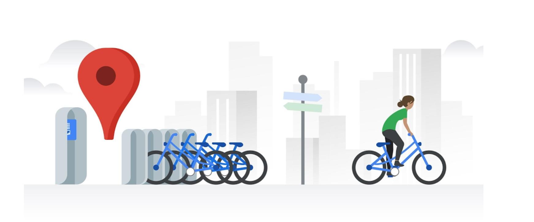 Google Mapy začínají integrovat data o službách na sdílení kol