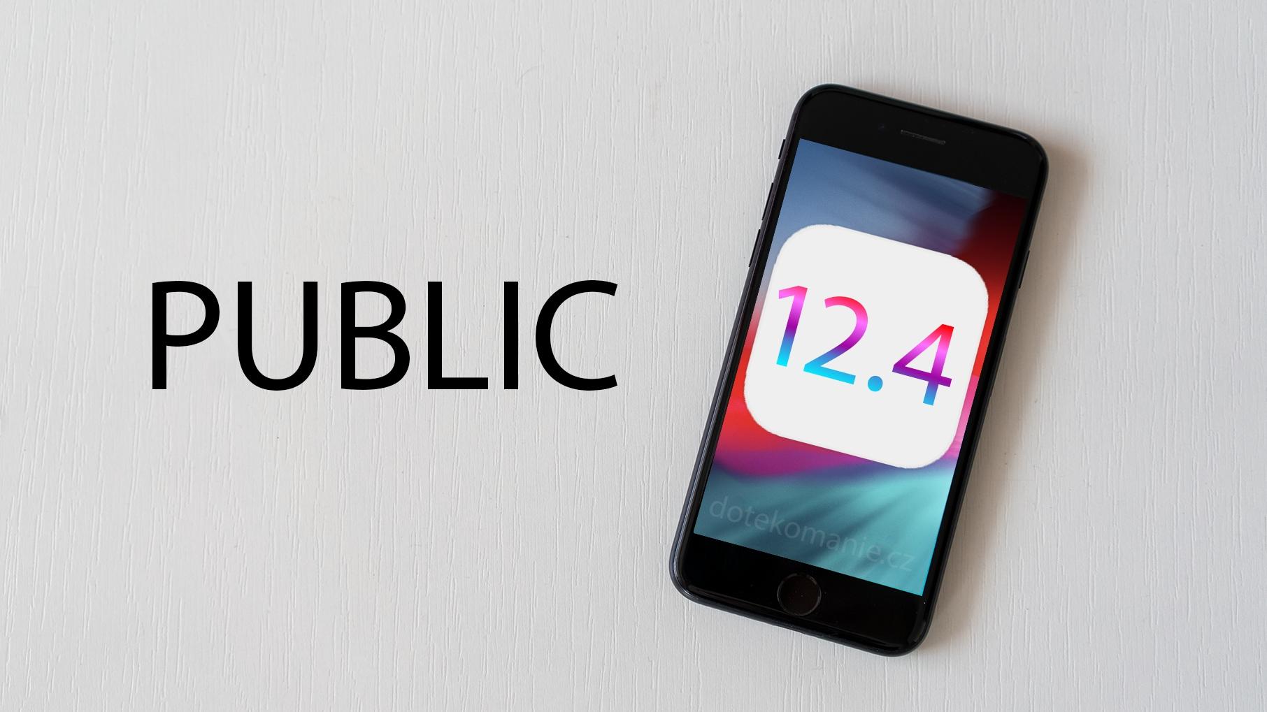 Apple vydal také důležitou aktualizaci iOS 12.4.4