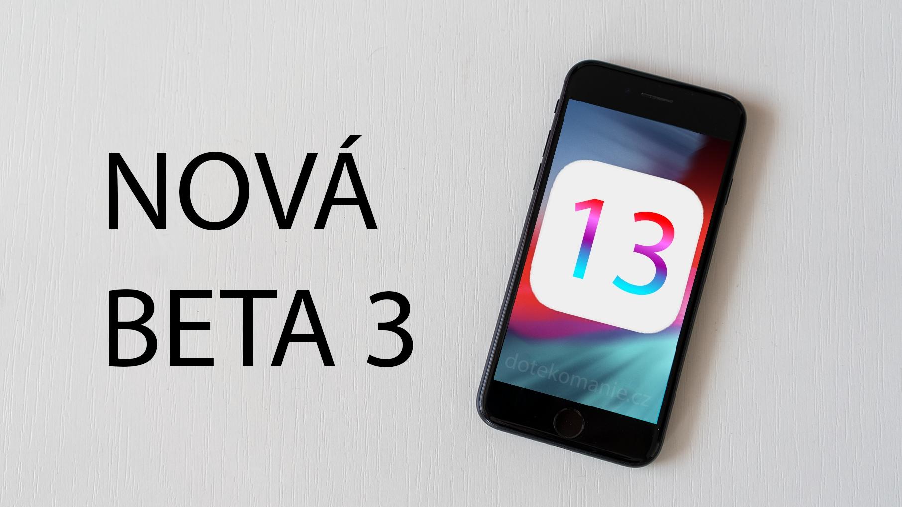 Apple vydal revidovanou třetí beta verzi iOS 13