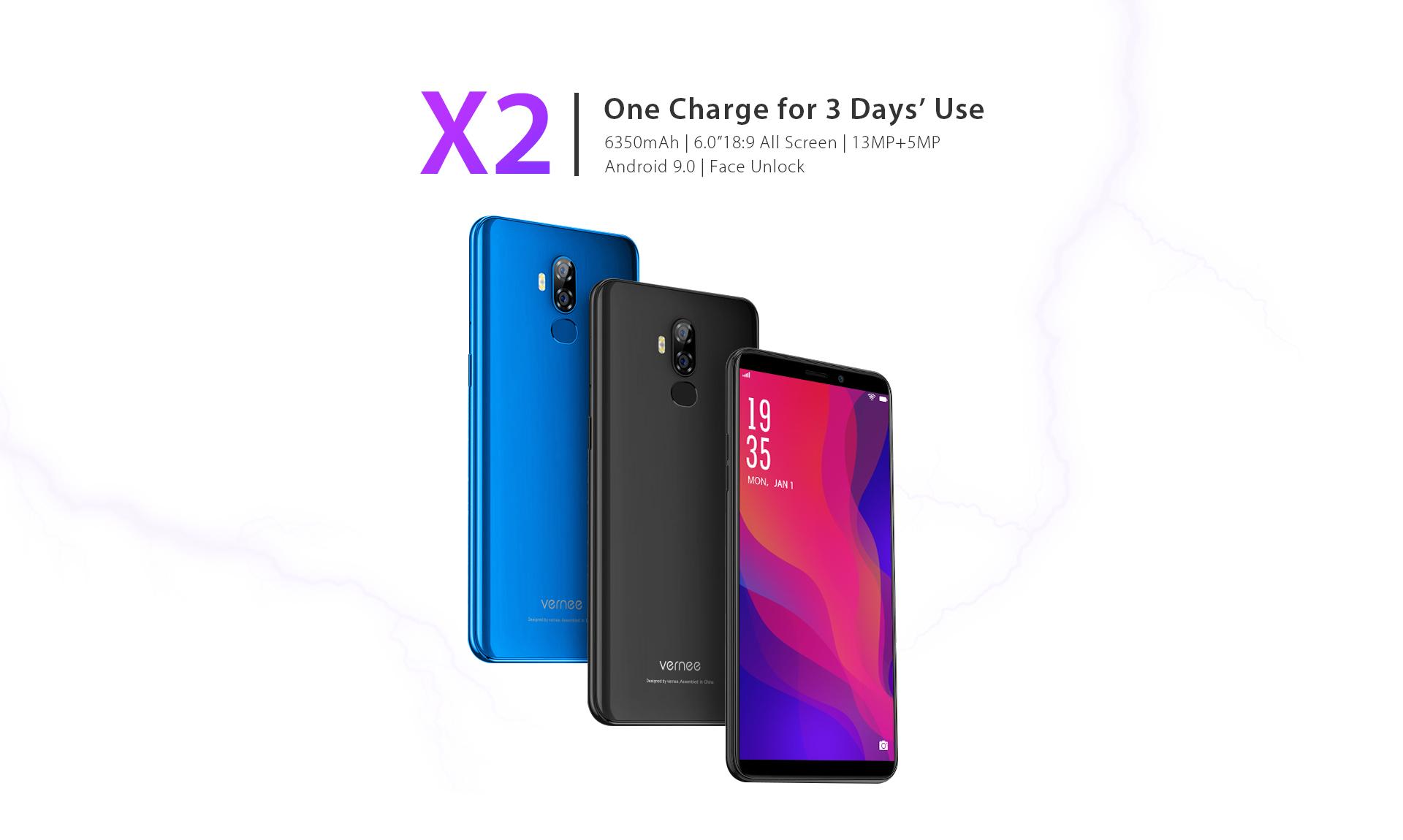 Vernee X2 je nový telefon pro ty, kteří potřebují velikou baterii