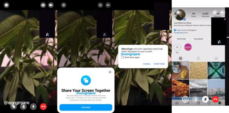 sdílení obrazovky