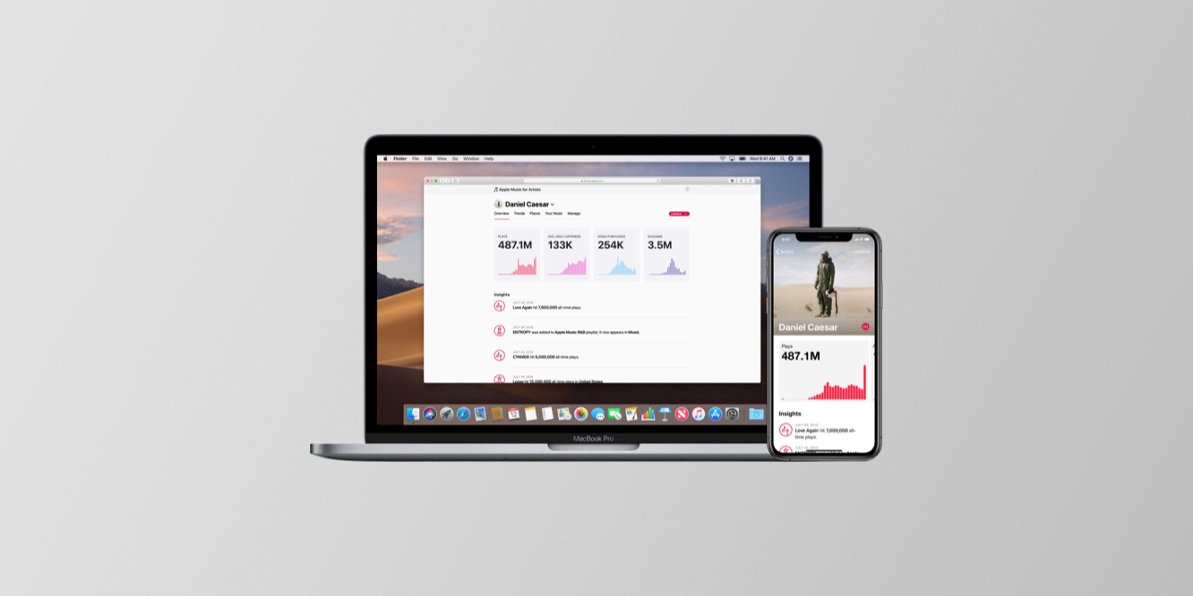 Aplikace Apple Music for Artists získává novou aktualizaci