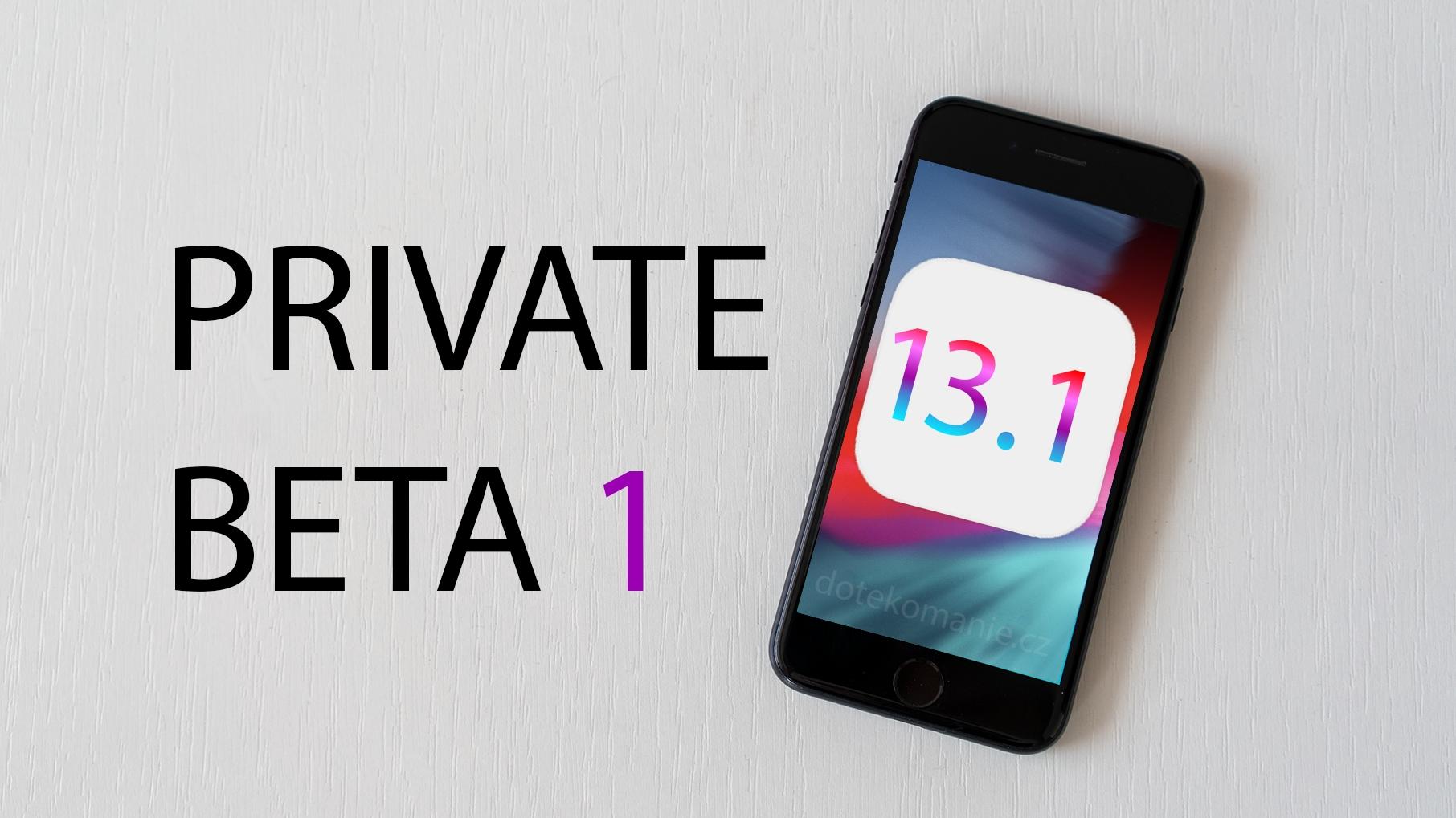 Apple vydal první betu iOS 13.1