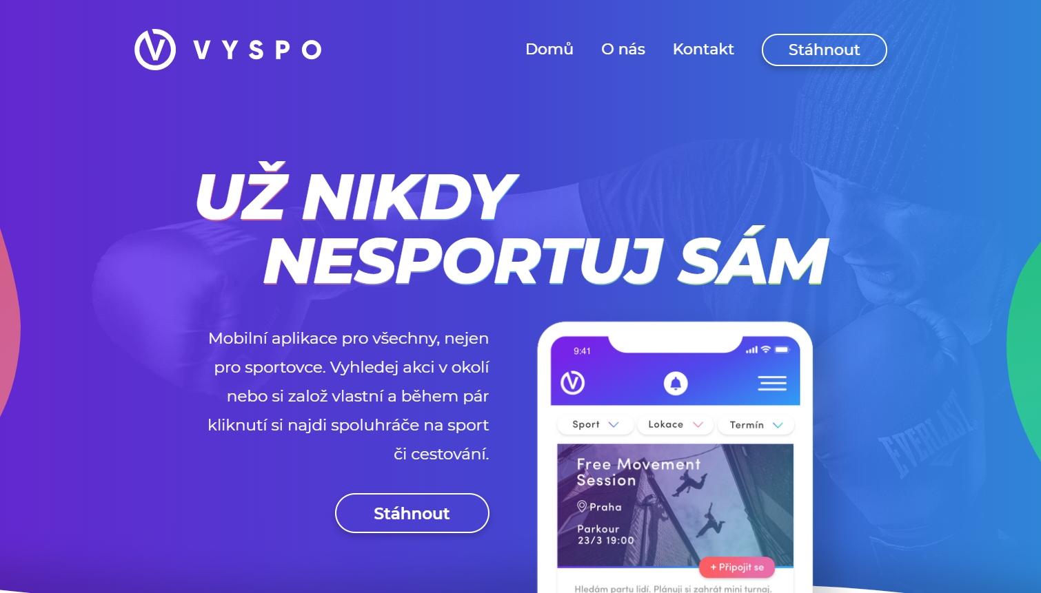 Najděte nové kamarády na sport díky české aplikace Vyspo
