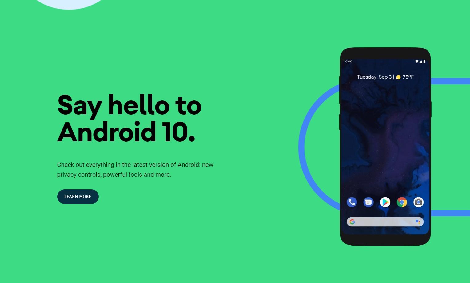 Google vydal stabilní verzi systému Android 10