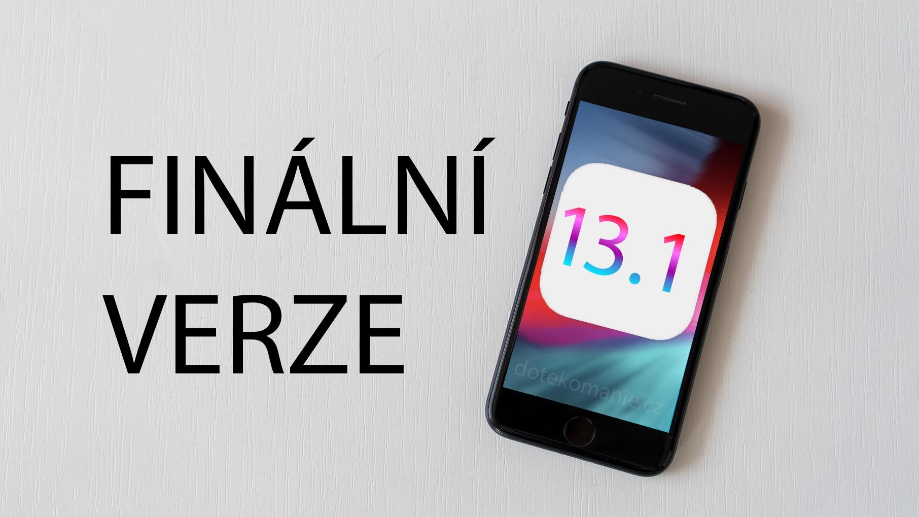 iOS 13.1 a iPadOS 13.1 nakonec dorazí o něco dřív