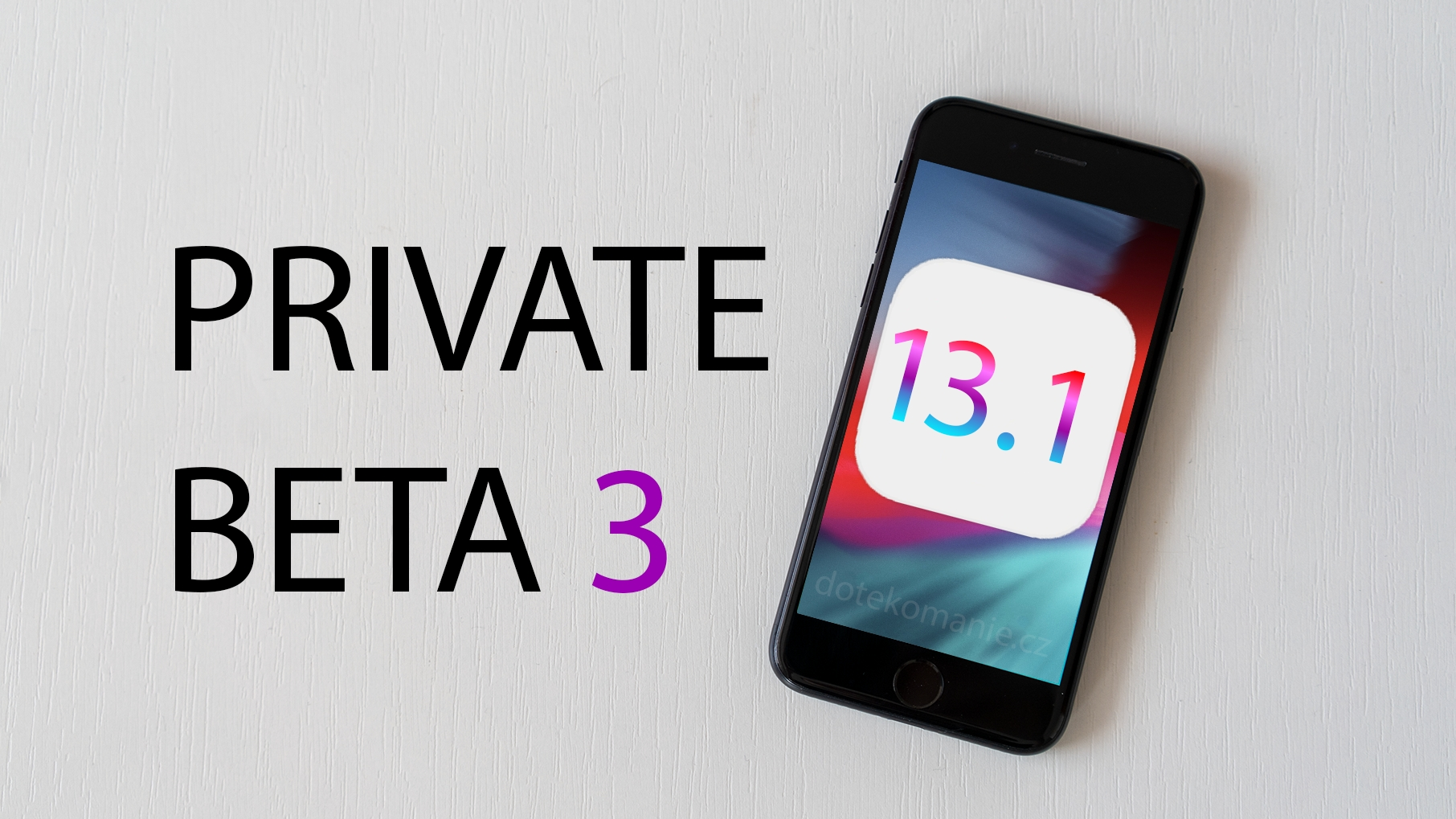 iOS 13.1 beta 3 je venku, nabídne odstraněné funkce