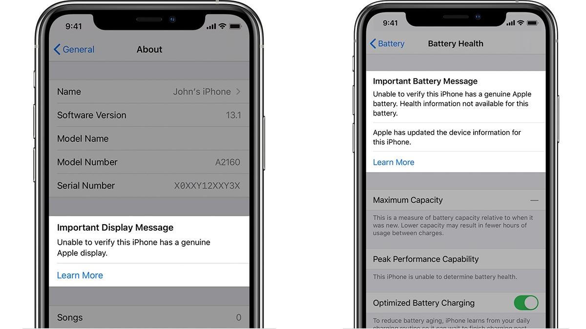 iPhone 11 a iPhone 11 Pro zobrazí oznámení v případě neoriginálního displeje