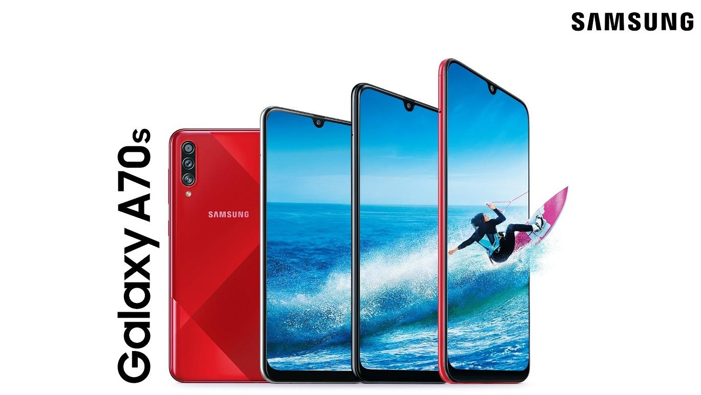 Samsung Galaxy A70s představen, disponuje 64MPx foťákem