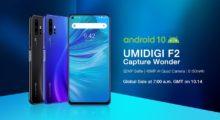 Umidigi představilo model v F2, jde o druhý telefon na trhu, který rovnou přichází s Androidem 10 [aktualizováno]